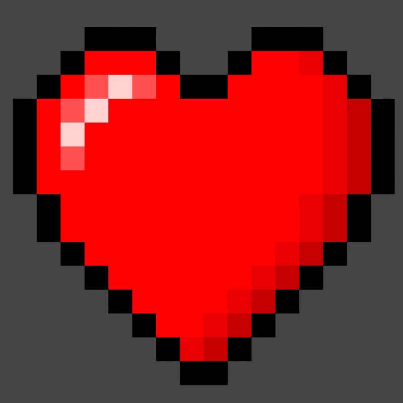 Milagro S Art 8 Bit Heart Nintendo Zelda Love Life Pixel Heart Pixel Art 8 Bit