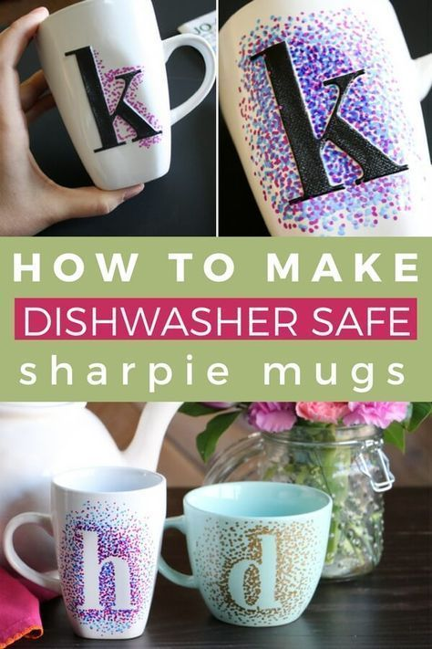DIY Sharpie Mugs That Are Washable -  DIY sharpie mugs are an inexpensive and easy gift idea. Best of all, DIY sharpie mugs can be custom - #DIY #DIYHomeandDecorations #diyhomecrafts #DIYPartyDecorations #DIYWindChimes #FrameCrafts #homedecorations #Mugs #sharpie #washable