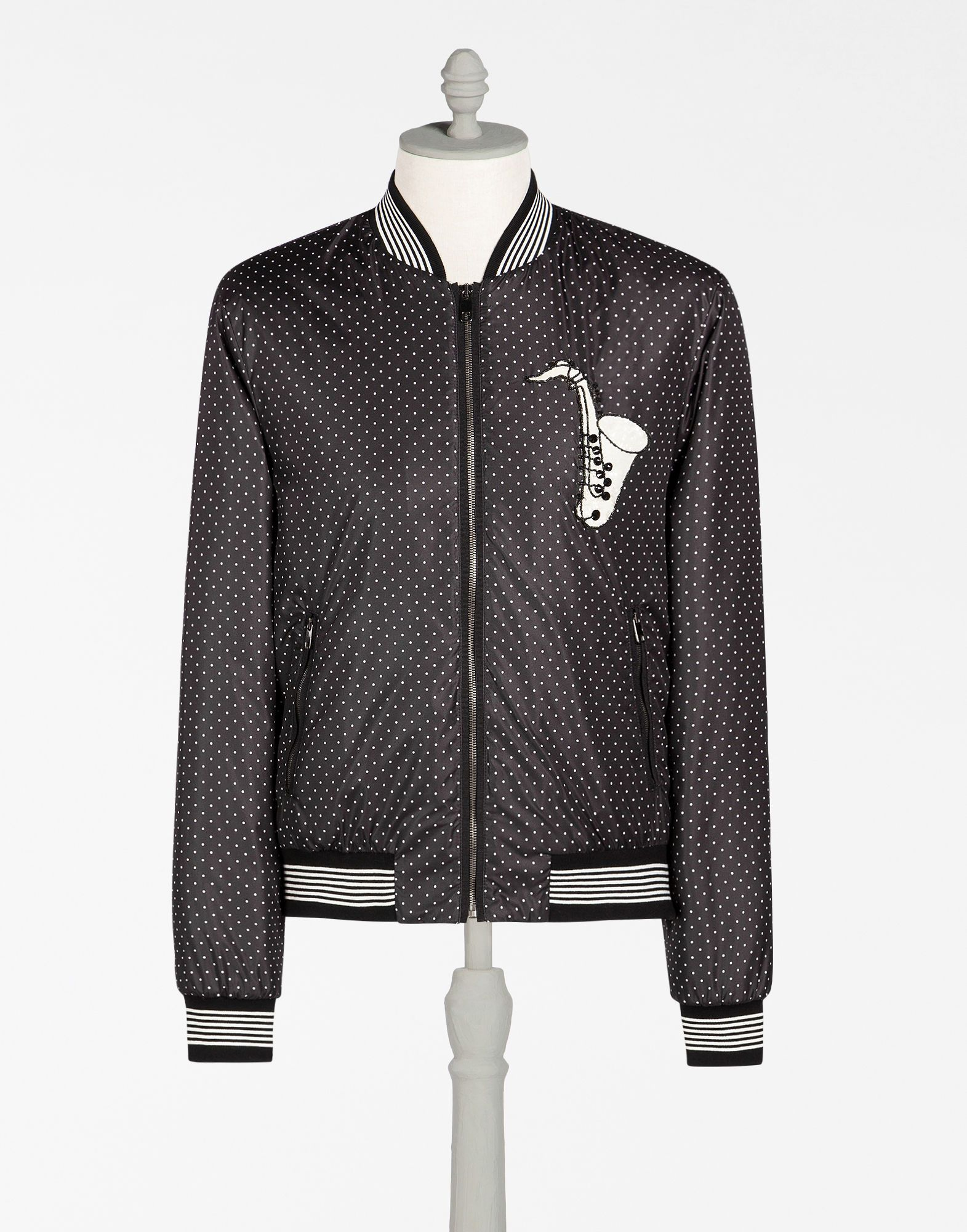 31fa6d4d6 DOLCE & GABBANA Bomber Jacket In Printed Nylon With Patch ...