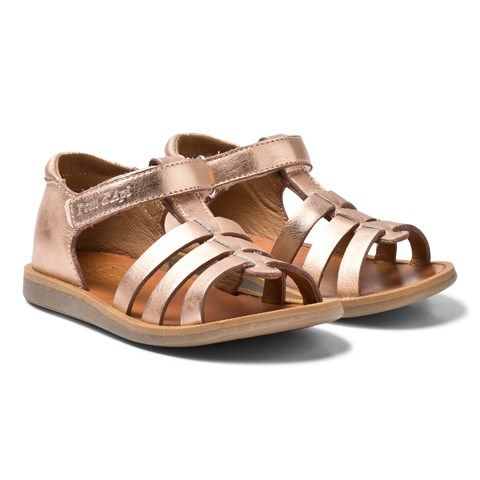 8967470632a3 Rose Gold Poppy Strap Velcro Sandals