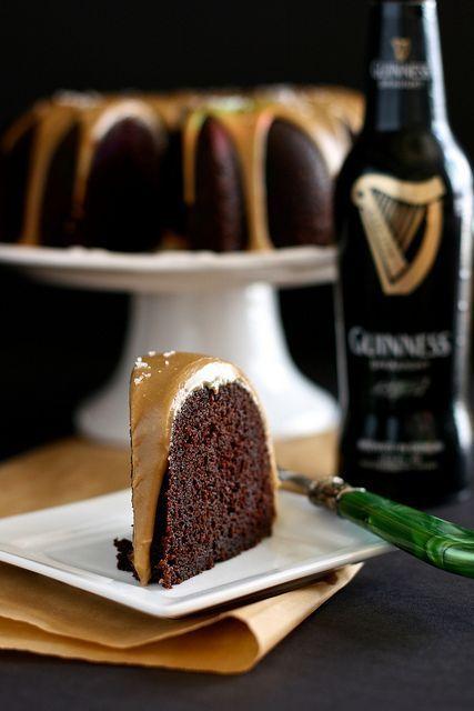 Guinness Chocolate Cake with salted caramel glaze @Jessica Due