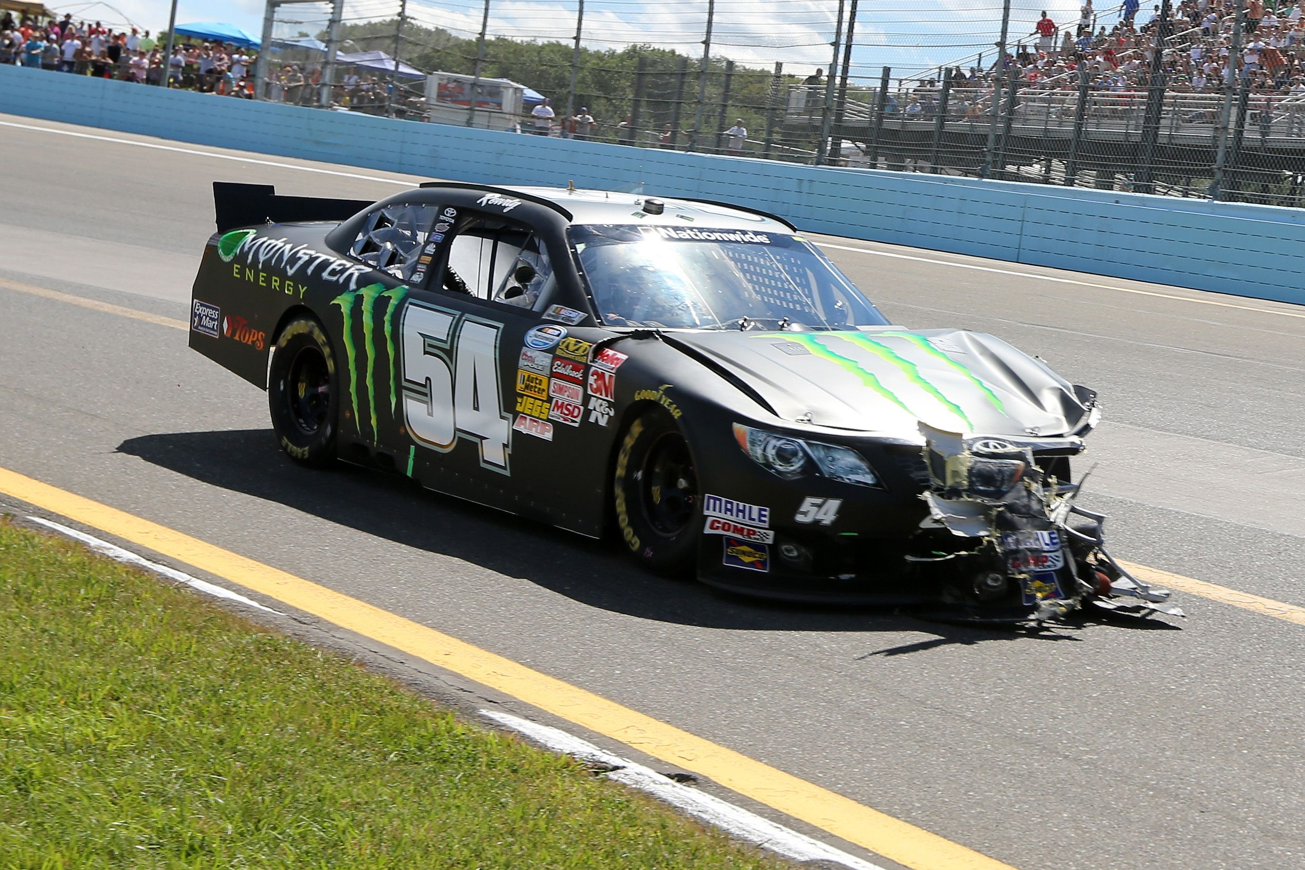Kyle Busch Wrecks During The First Lap Of The Zippo 200 Hahahahaha Nascar Collectibles Kyle Busch Nascar Racing