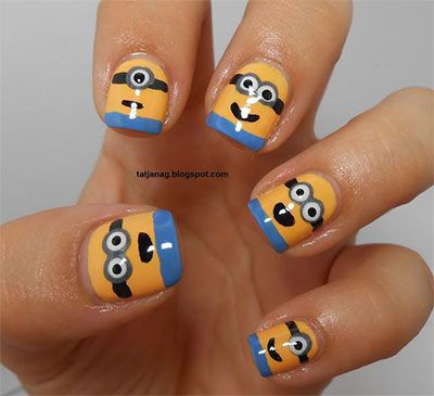 Nail art designs 4 minions nails 2013 2014 despicable me 2 nail art - 2014 Nail Designs Nails 2013/ 2014 Despicable Me 2 Nail Art