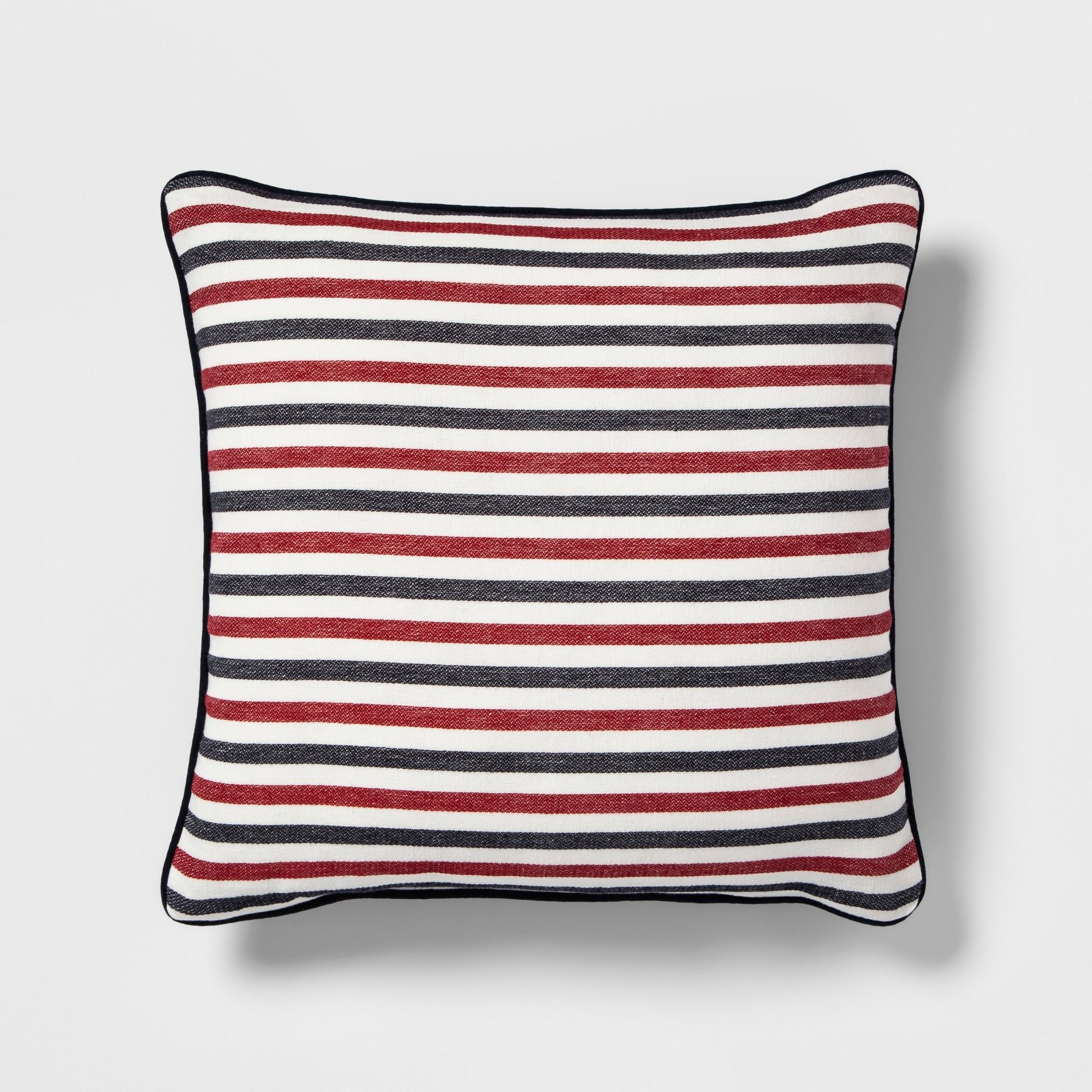 Americana Stripe Square Throw Pillow Threshold , Adult