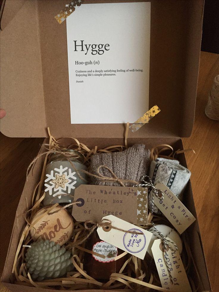 Homemade Hygge box Regali di natale fai da te, Idee per