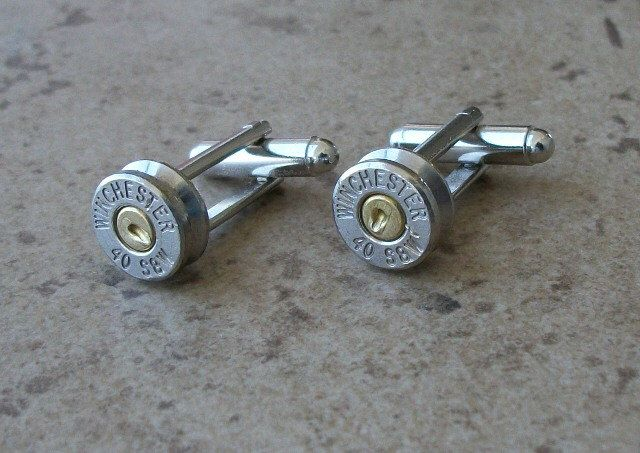 Bullet Cufflinks Winchester 40 S W Wedding Cufflink Sets Nickel Finish Great