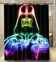 Custom Star Wars Darth Vader Bathroom Shower Curtain 140x180cm Bath Waterproof Polyester Curtains