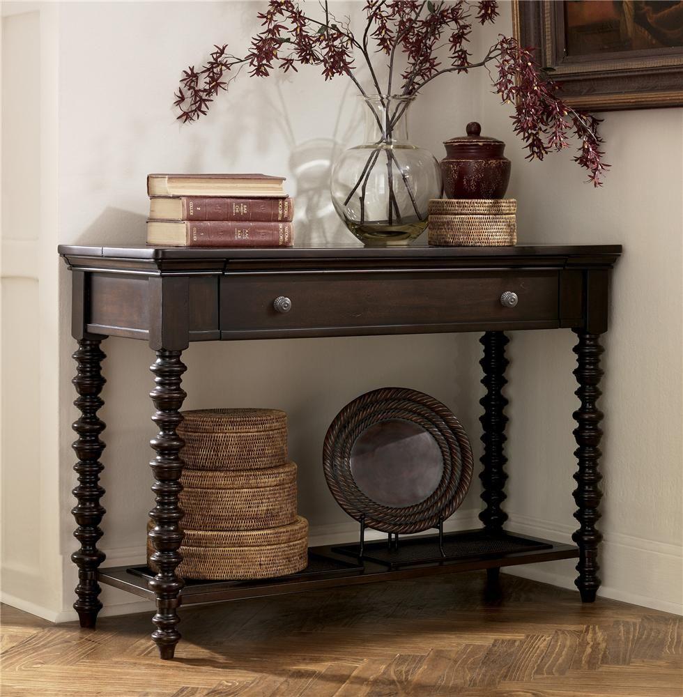 Millennium Key Town 1 Drawer Dark Brown Sofa Table - AHFA - Sofa ...
