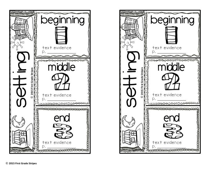 Setting Graphic Organizers, Anchor Charts, & Flip Book