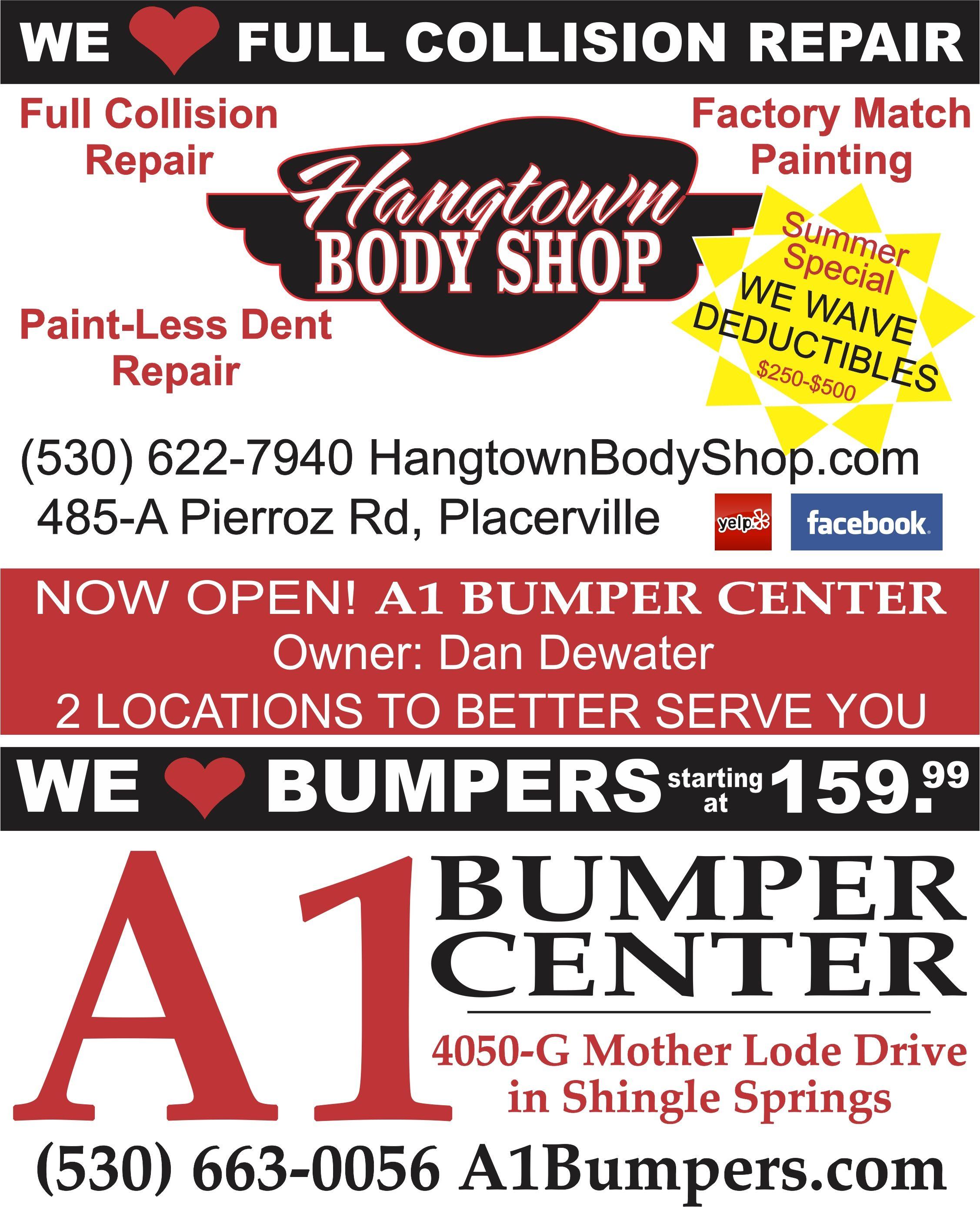 FAIR ☼ WE ♥ OUR SPONSORS • Hangtown Body Shop & A1 Bumper