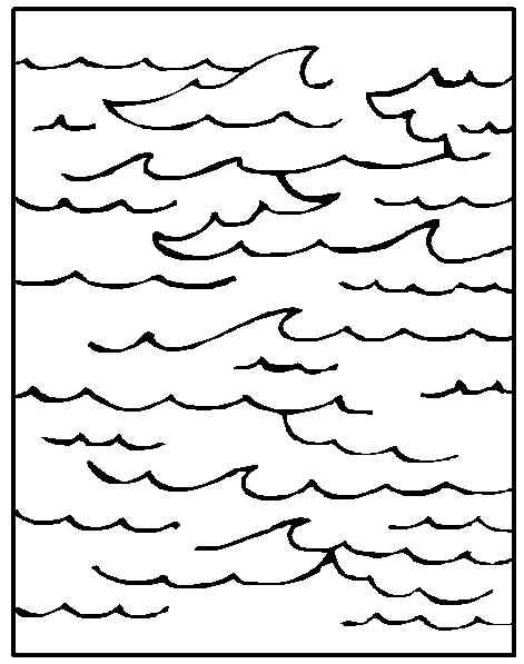 beach waves coloring pages - photo#11