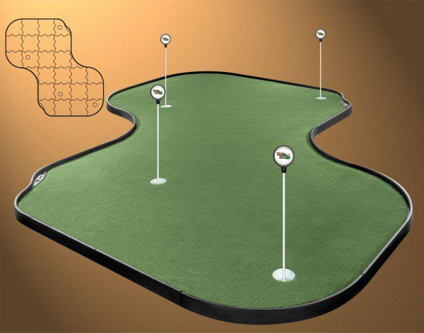 12x12 Indoor Putting Green 12 Foot Putts On Club Speed Turf Make
