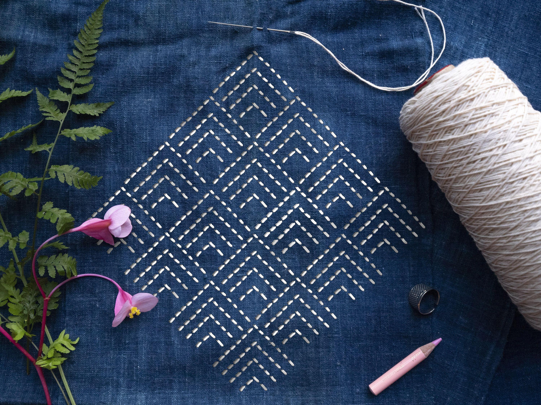 SASHIKO STENCIL PATTERN, Japanese embroidery clear acrylic template, quilting stencil /8.sashiko