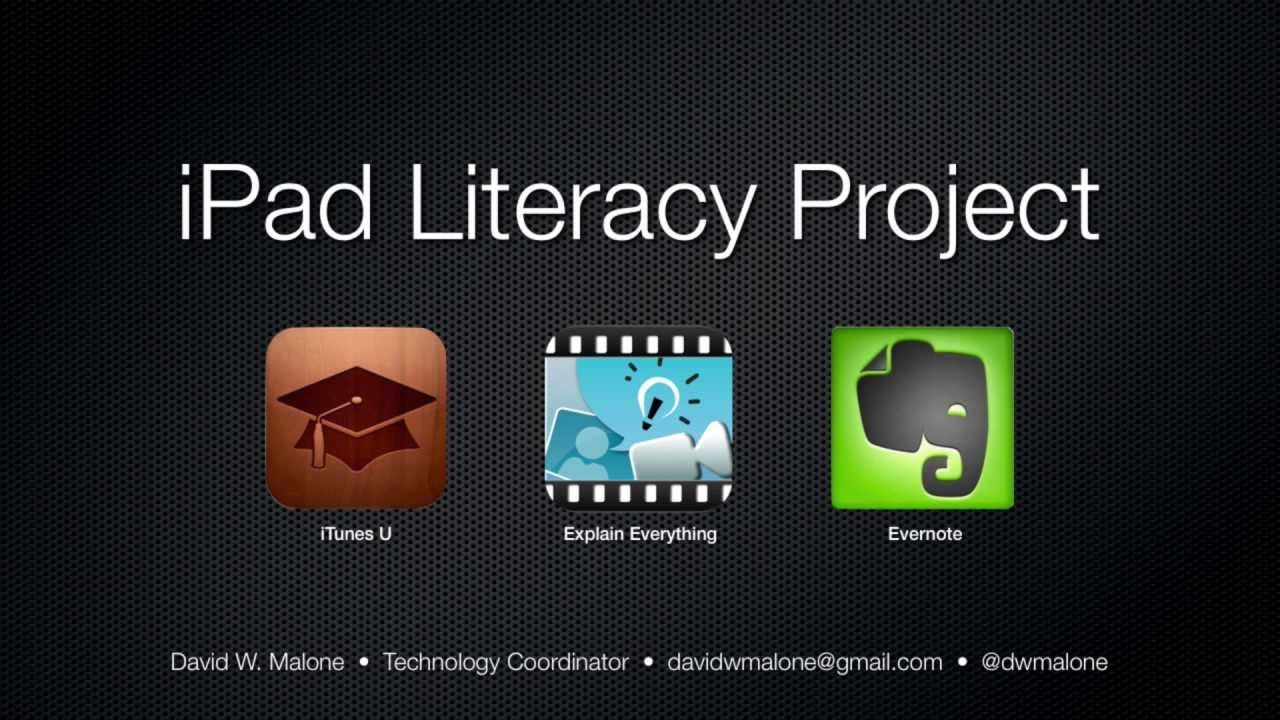 iPad Literacy Project iBook