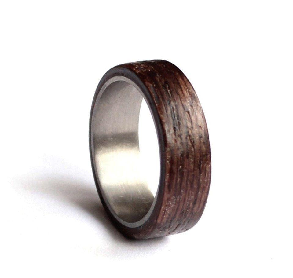 Edelstahl Ehering Mens Eheringe Holz Mens Ring Ehering Wenge
