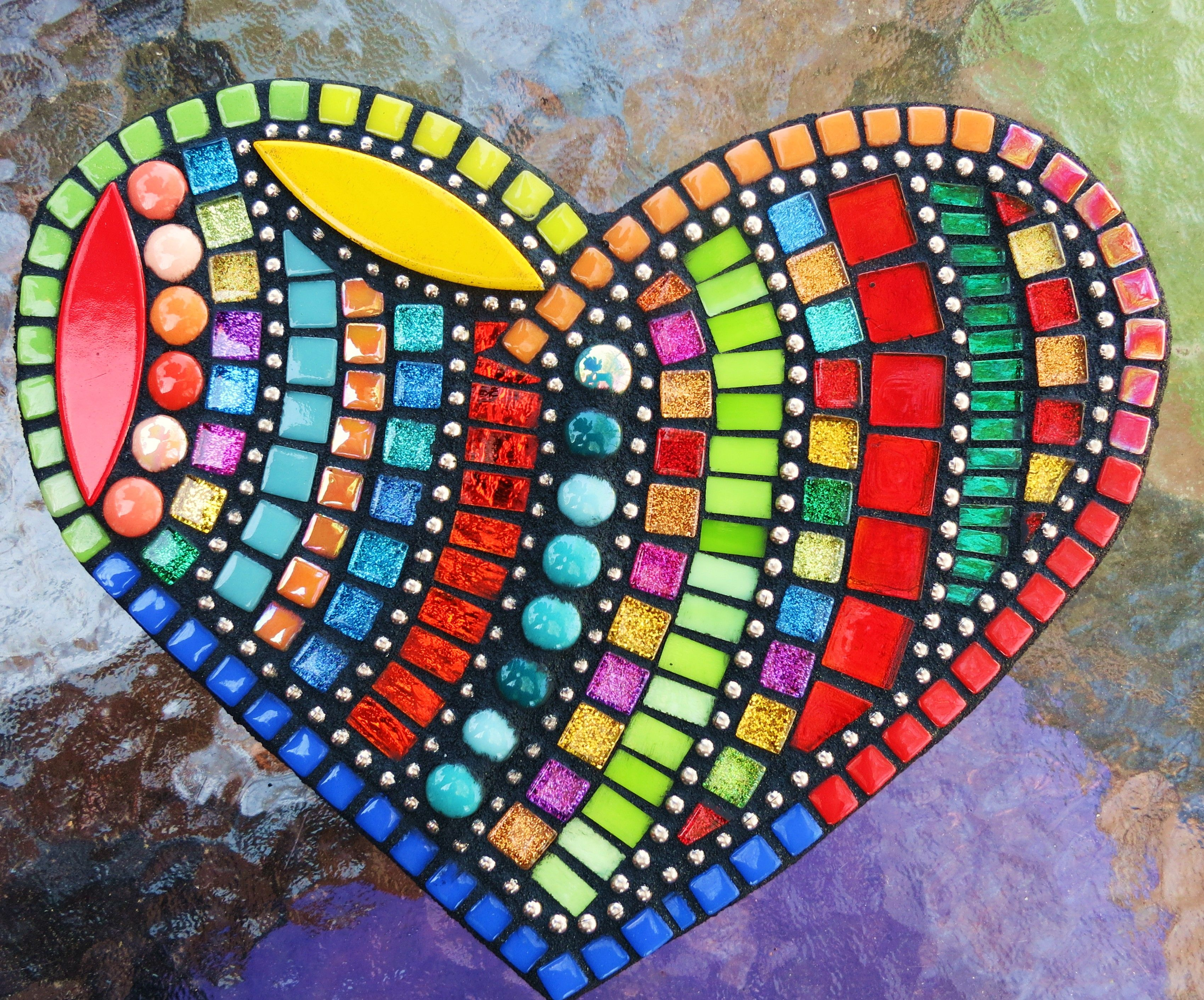 Mosaic Heart Created By Tina Wise Crackin Mosaics