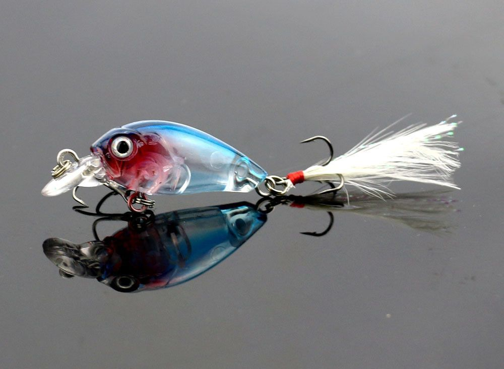 4g Fishing Lure Crank Bait Mini Crankbait 3D Fish Eye