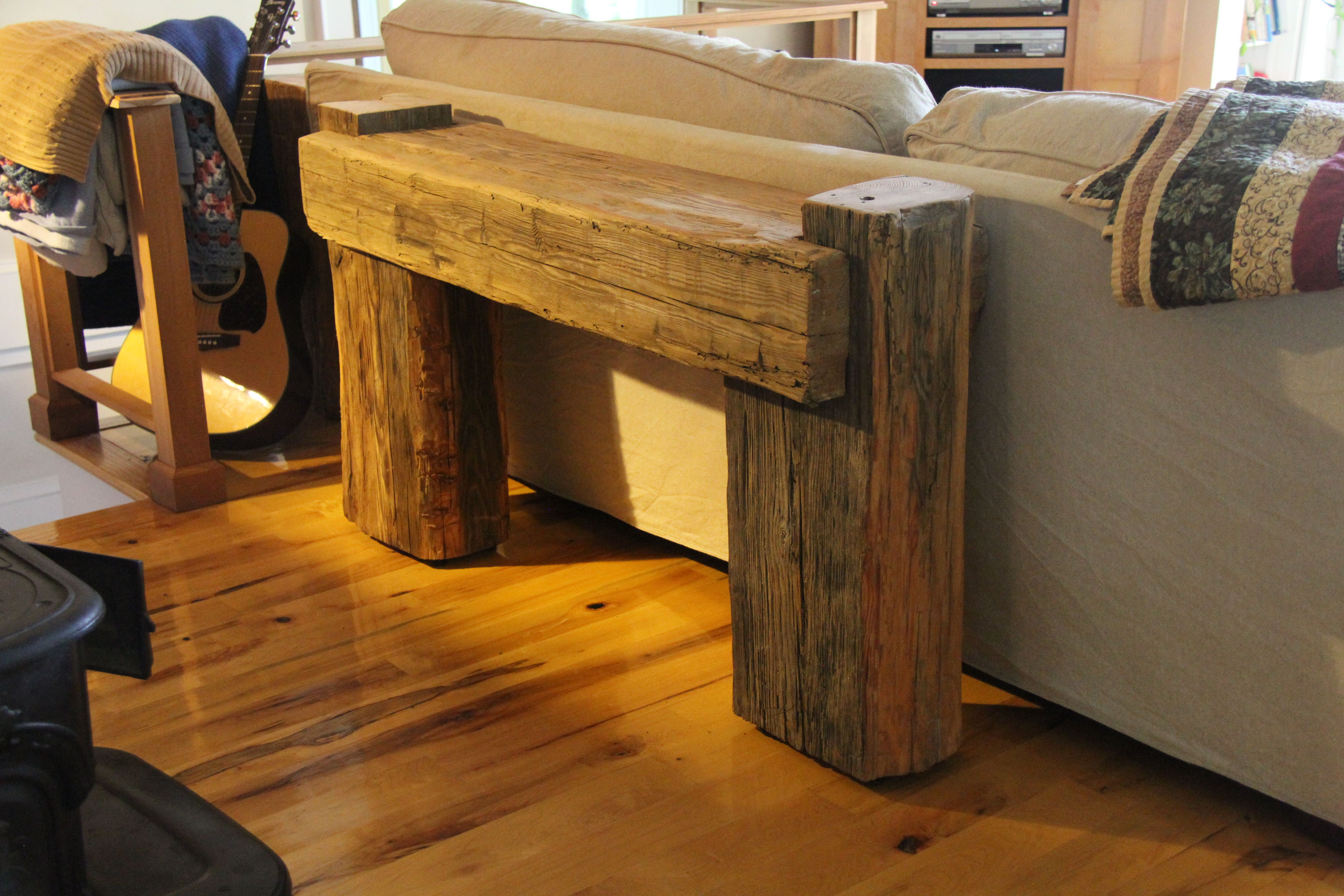 Hand Hewn Beam Couch Table