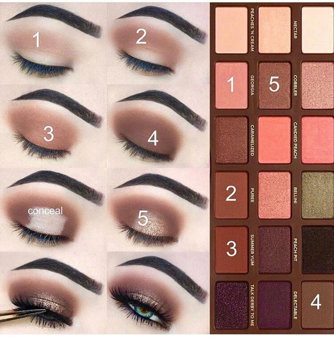 Too Faced eye shadow palette eye makeup step by step