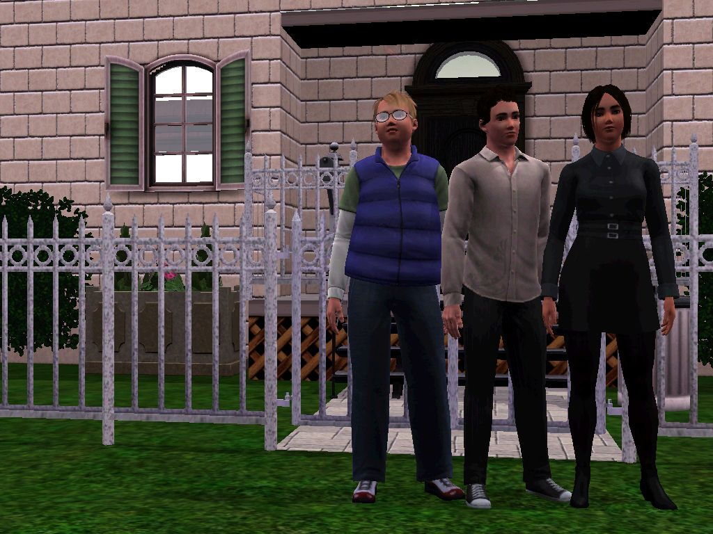 George Cubbins Anthony Lockwood And Lucy Carlyle In Front Of Their House At Portland Row 35 London Made With Sims 3 I Am Going To Play This Household книги