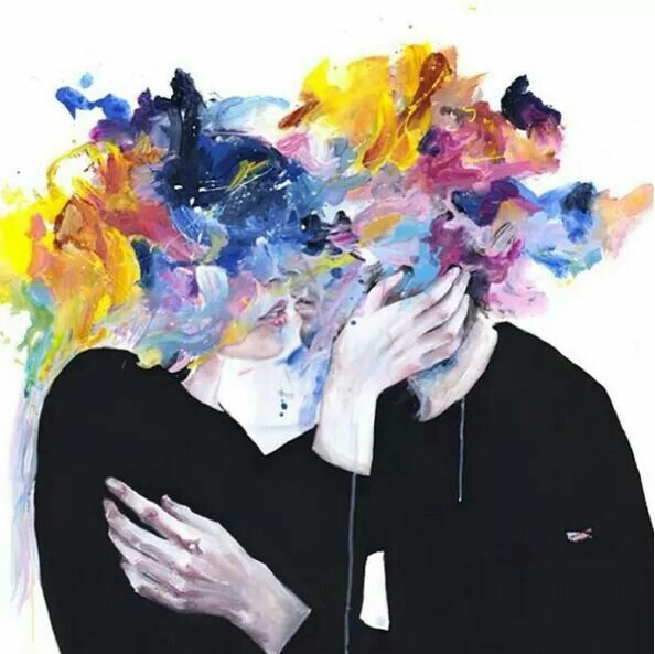 Water colour painting by Agnes Cecile