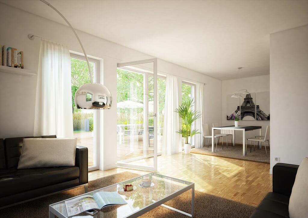INNENRAUM WOHNZIMMER Haus Celebration 125 V2 Bien Zenker - offene küche wohnzimmer