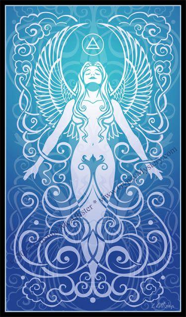 "Gypsy Mystery: Art Spotlight: ""Shakti: Air Spirit"" - Christina McAllister's fantastic illustrations"