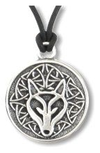 Celtic wolf spirit wisdom pewter necklace pagan wiccan celtic wisdom wolf pendant in pewter mozeypictures Gallery
