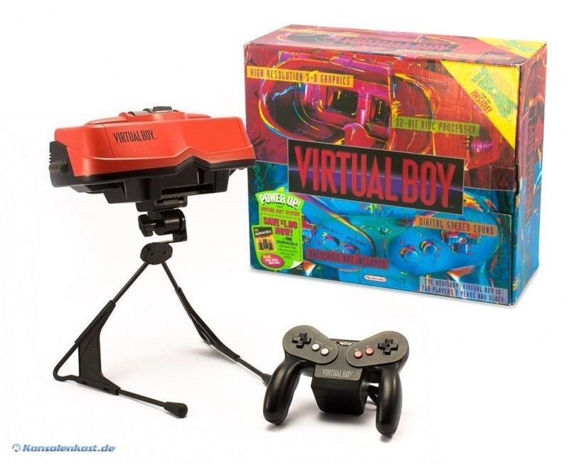 Virtual Boy - Console (incl. gamepad, Stand & cables) (US) (boxed) (used)
