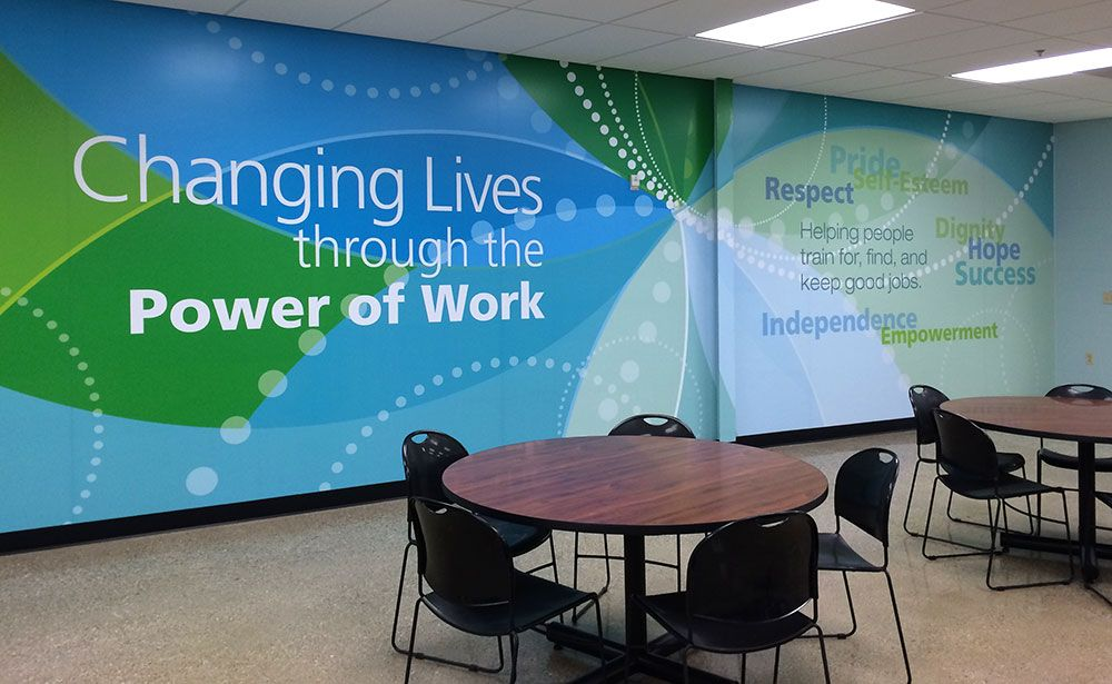 graphic wall office design - Google Search | Mission, Vision and ...