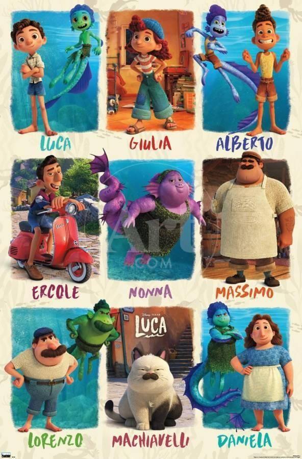 Disney Pixar Luca - Grid