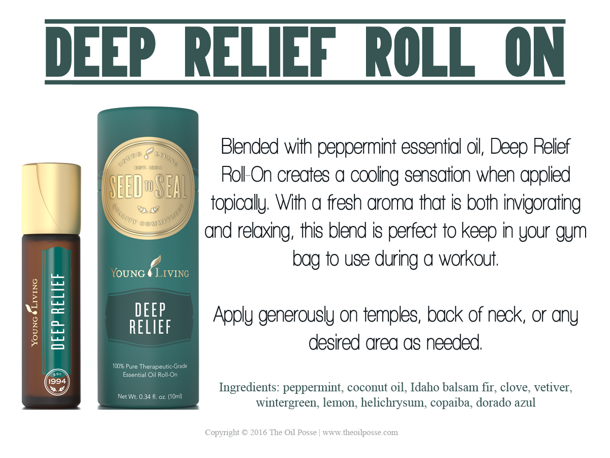 Blended With Peppermint Essential Oil Deep Relief Roll On