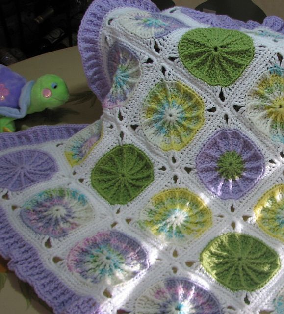 Watercolor Wheels Baby Blanket