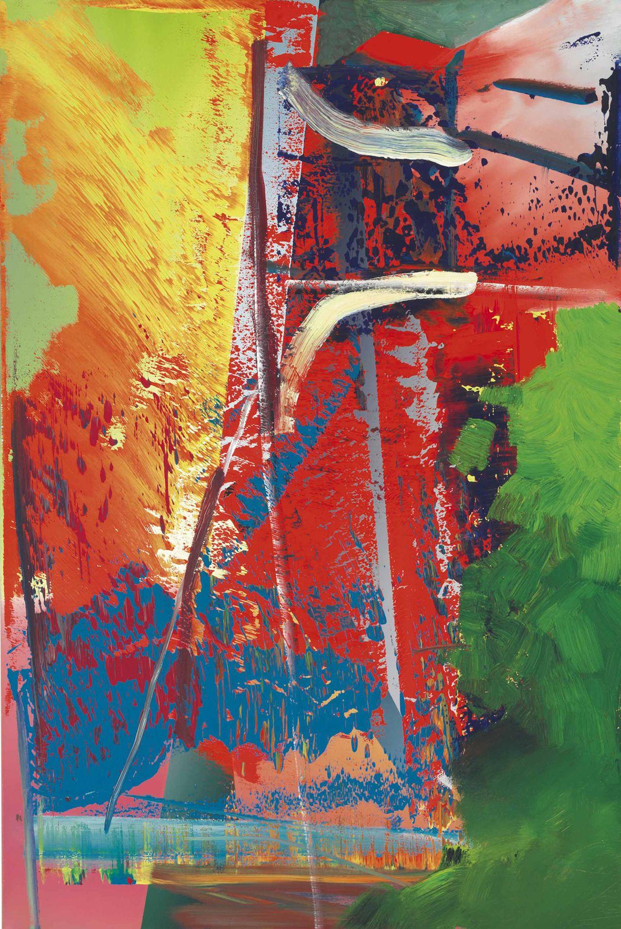 gerhard richter abstraktes bild 1986 european art abstract artwork abstrakte kunst malerei berühmte bilder