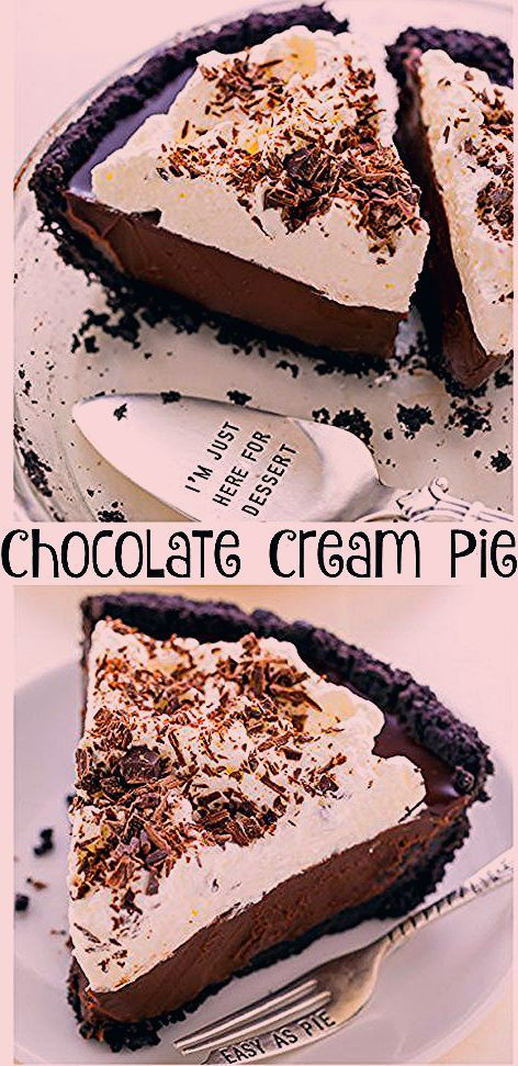 Photo of No-Bake Chocolate Cream Pie – Baker by Nature