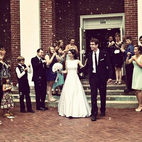Happy wedding, bubbles