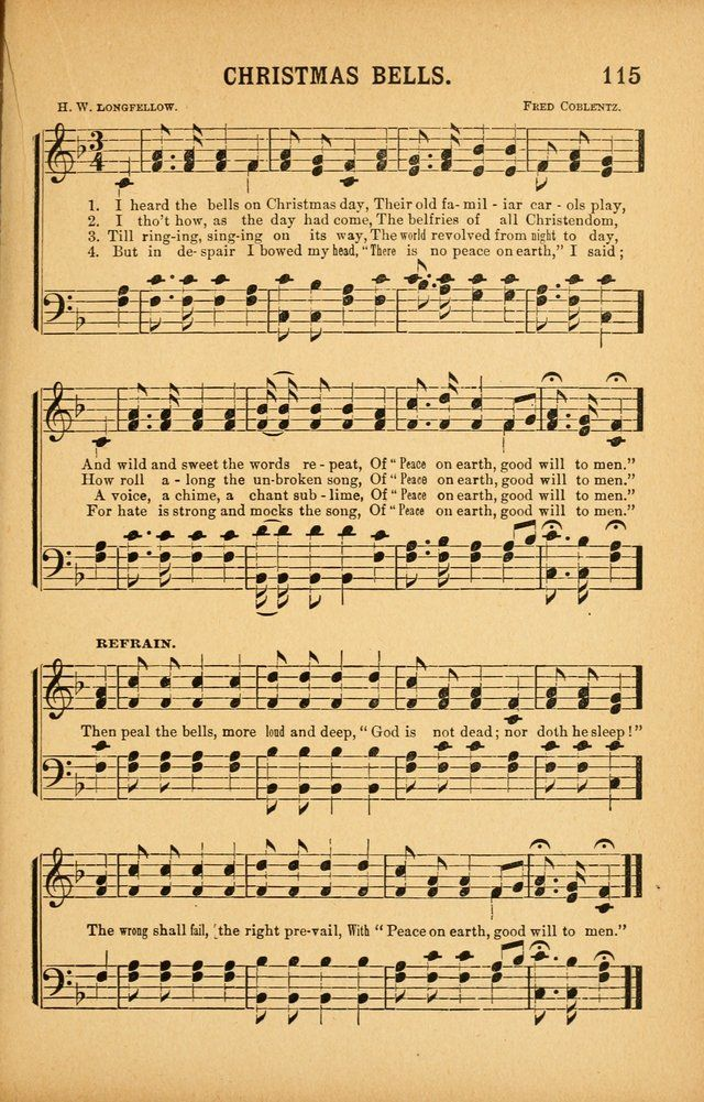I Heard The Bells On Christmas Day Lyrics.I Heard The Bells On Christmas Day Hymnary Org Et In