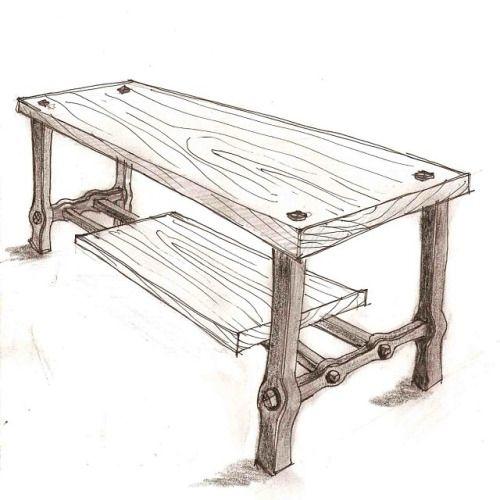 Sketch Proposal For A Coffee Table Winnipeg Blacksmith