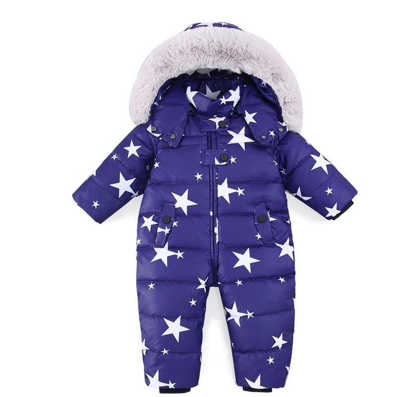 b0e2e4b27 Russian Winter Baby Snowsuit Boy Girl Jumpsuit Kids 90% Duck Down ...