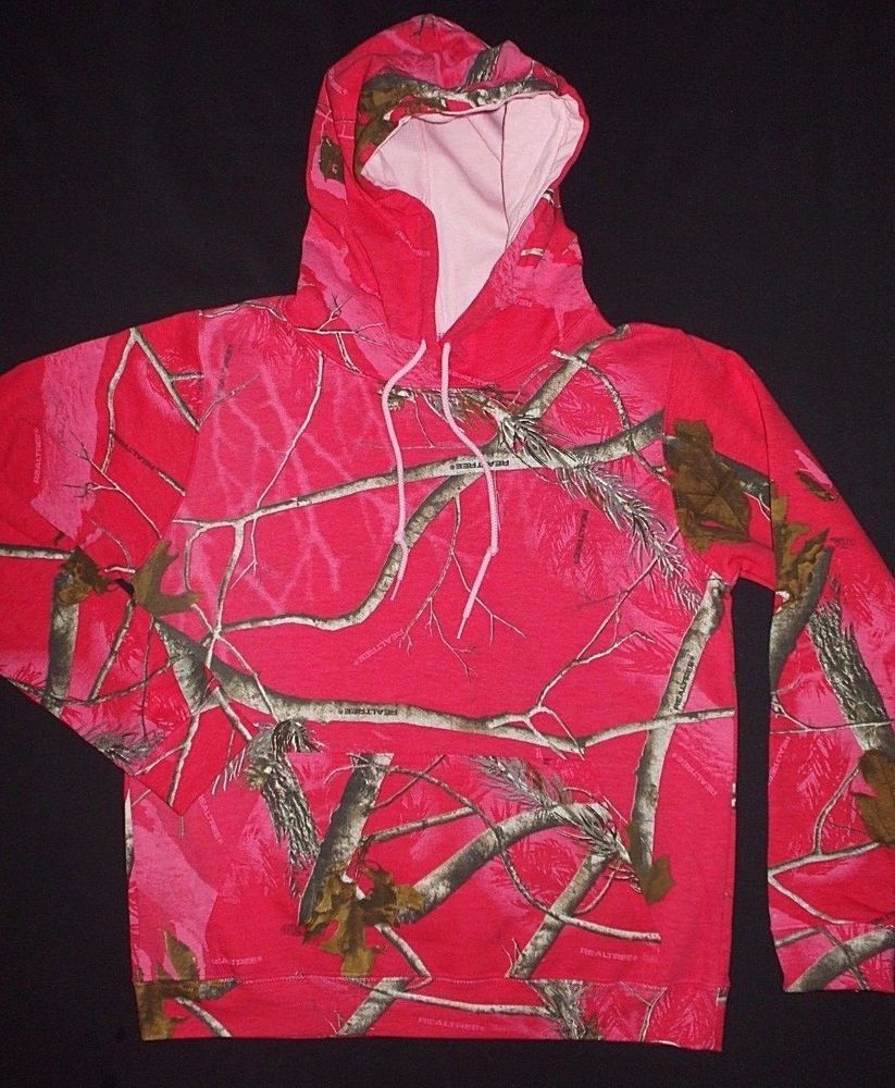 19e9665c363 Camo PINK Ladies REALTREE New Hoodie Hooded Sweatshirt Camouflage Size  MEDIUM  Realtree  Hoodie