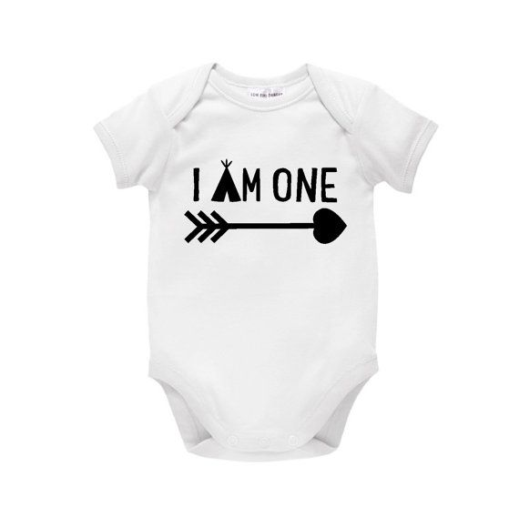 I Am One Boys Tee First Birthday Gift Indian Design With Arrow And