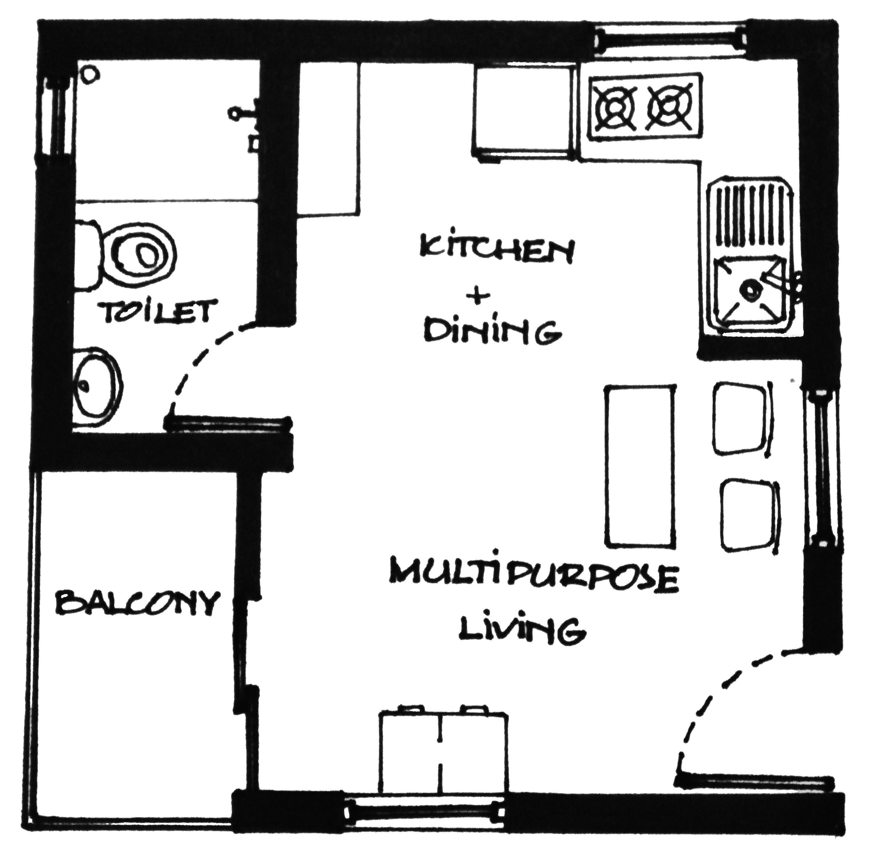 Ews Housing Layout Concept Sketch