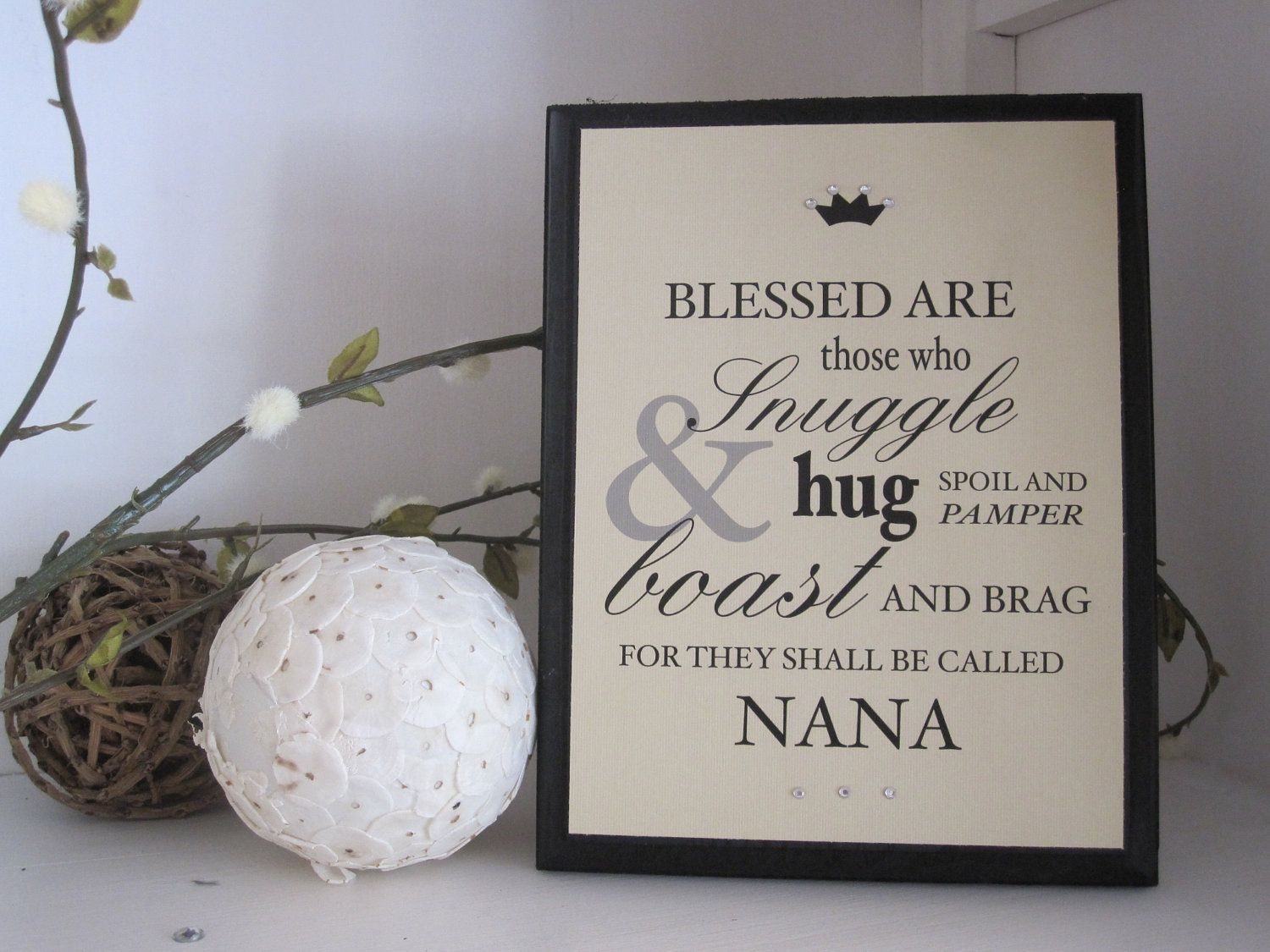 GRANDMOTHER Typography QUOTE Personalized Gift for Nana. $28.50 ...