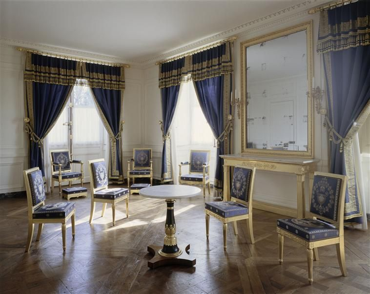 palais de compi gne salon boudoir d 39 angle du roi de rome tat restitu premier empire. Black Bedroom Furniture Sets. Home Design Ideas