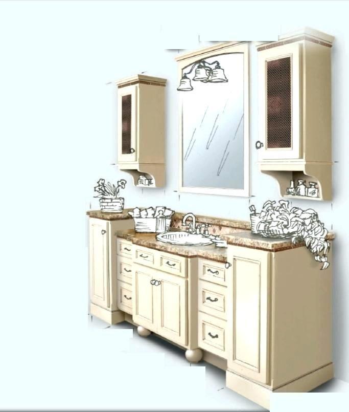 Upper Bathroom Cabinets Vanity Wall
