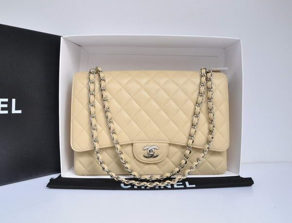 8c05736908d0be Chanel Original Caviar Leather Jumbo Flap Bag A47600 Apricot ...