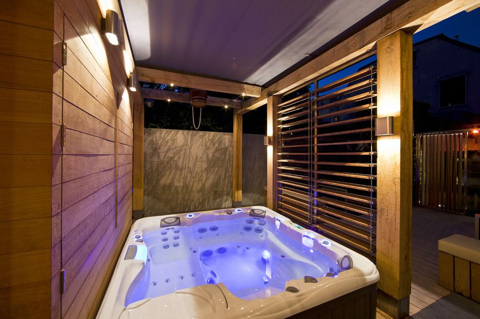 Indoor Spa With Lcd Tv Google Search Hot Tub Outdoor Hot Tub Room Indoor Hot Tub