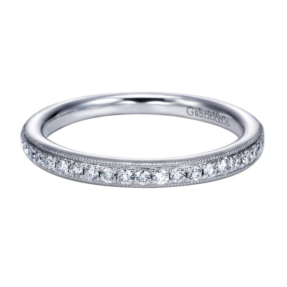 0.23 ct F-G SI Diamond Straight Wedding Band In 14K White Gold WB6687W44JJ