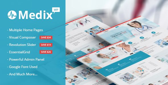 Medix - Health and Medical WordPress (Health & Beauty) - http://wpskull.com/medix-health-and-medical-wordpress-health-beauty/wordpress-offers