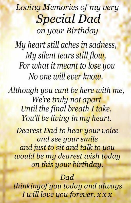 Heaven Dad Poems Wishes Birthday